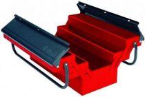 Boîte à outils métallique 2 étages - 5 compartiments