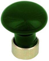 Bombé - porcelaine de couleurs - monture laiton ø 30 mm