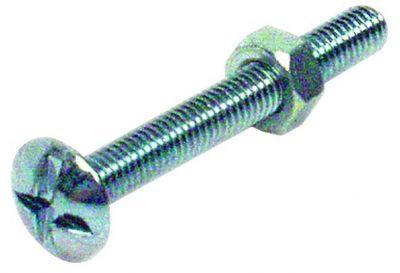 Boulon acier zingué - NF E 25-125 et DIN 555