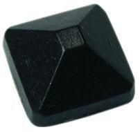 Boulon et cache écrou tête diamant - Tige filetée acier - tête aluminium noir