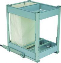 Bouteilles + pannetière + 1 à 3 niveaux de rangement - cadre aluminium anodisé - panier gris