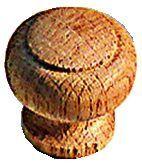 Bouton classique bombé - chêne brut poncé