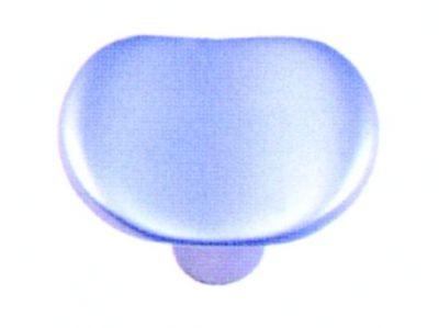 Bouton classique concave - zamack finition chromé mat