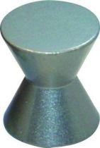 Bouton classique plat - zamack finition inox