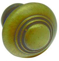 Bouton finition vieux bronze - zamack