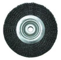 Brosse circulaire alésage ø 12 mm fil d\'acier 0,35 mm