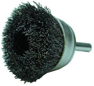 Brosse coupe sur tige ø 6 mm fil d\'acier 0,35 mm