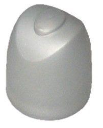 Butoir de porte pour fixation au sol - alu argent et caoutchouc cylindrique
