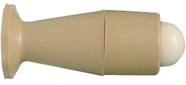 Butoir de porte pour fixation sur plinthe - plastique beige et caoutchouc