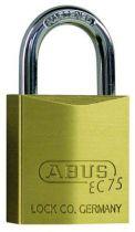 Cadenas à clés laiton massif - série EC 75 - Anse acier cémenté - 5 clés - varié