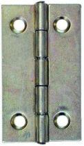 Charnière rectangulaire à noeud roulé - axe inox