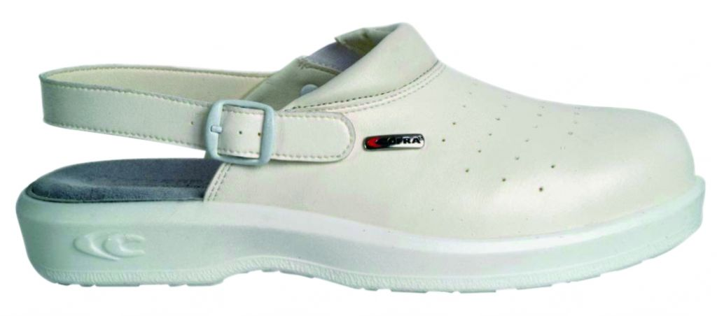 Chaussures blanches sabots Kevin - SB E A FO SRC