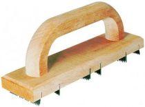 Chemin de fer de ravaleur poignée bois - 6 lames acier - longueur 25 cm