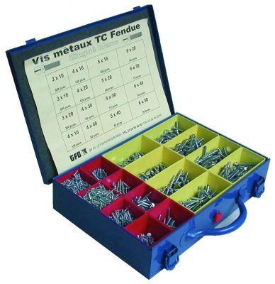 Coffret de vis métaux - DIN 963 - acier zingué