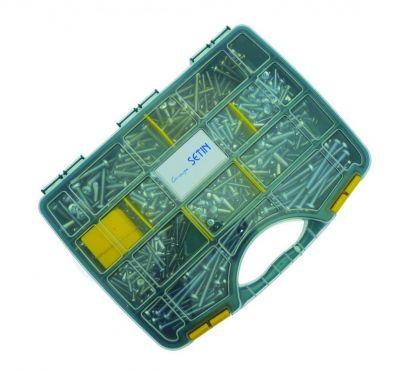 Coffret vis métaux DIN 7985 - acier zingué blanc