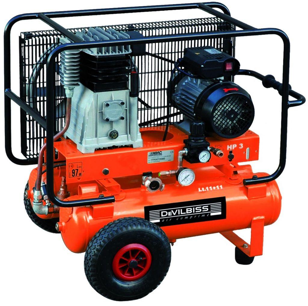 Compresseur mono-étagé EM.28 R - 2 x 11 litres