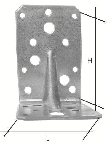 Connecteur métallique assemblage bois - Equerre renforcée