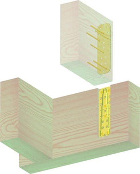 Connecteur métallique assemblage bois - Etrier invisible