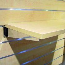 Console tablette bois chromé