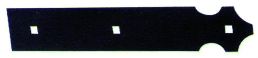 Contre - penture aluminium bout feston - Aluminium noir