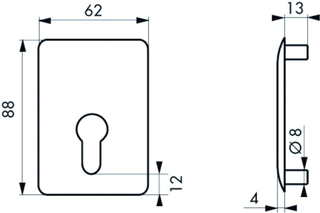 Contre plaque pour boîtier de verrou à cylindre profilé