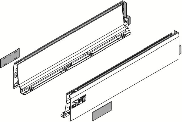 Côté de tiroir Antaro et Intivo blanc - hauteur M