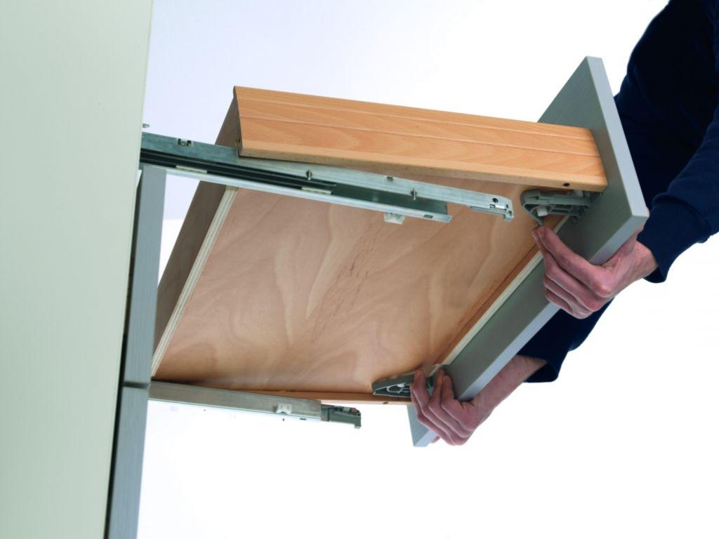 Coulisse invisible push smove unica charge 30 kg dynamique - Glissiere de tiroir ...