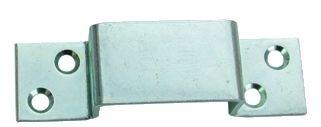 Crampon de serrure - Acier zingué - section 25 x 2 mm