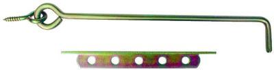 Crochet à crémaillère acier bichromaté