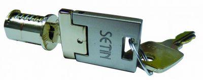 Cylindre avec clé escamotable et 1 clé standard - nickelé gris