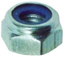 Ecrou héxagonal frein acier zingué - DIN 985