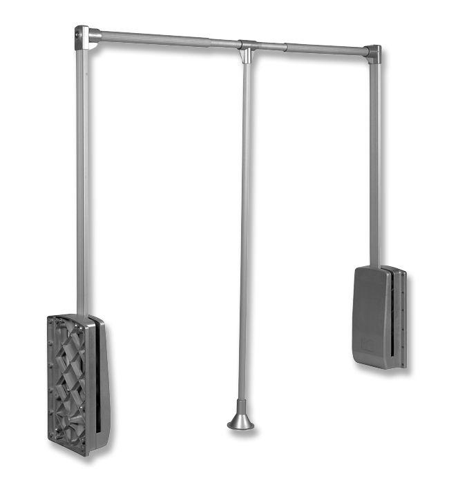 Elévateur garde robe 12 kg - aluminium anodisé mat
