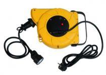 Enrouleur prolongateur câble HO5 VV-F 3G1,5 - avec disjoncteur thermique à rappel automatique - utilisation en atelier