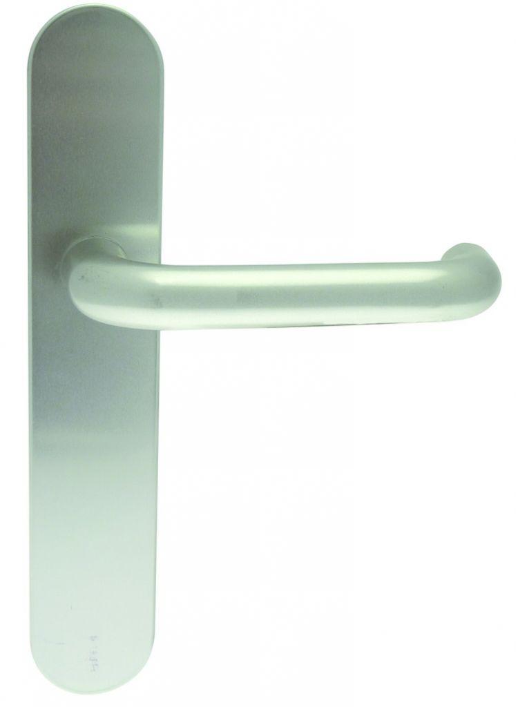 Ensemble Bercy 2 - Plaque 228 x 42 mm - entraxe de fixation 195 mm - Argent