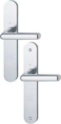 Ensemble Cortina - Plaque aluminium fondu 234 x 39 mm entraxe de fixation 195 mm