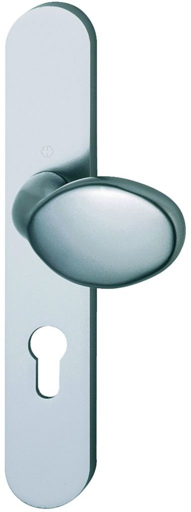 Ensemble Cortina - Plaque aluminium fondu 234 x 39 mm entraxe de fixation 195 mm