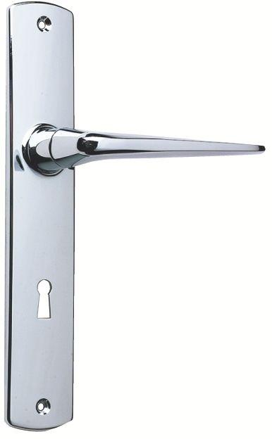 Ensemble Riv Bloc - Chromé miroir - Plaque de 220 x 40 mm - entraxe de fixation 195 mm
