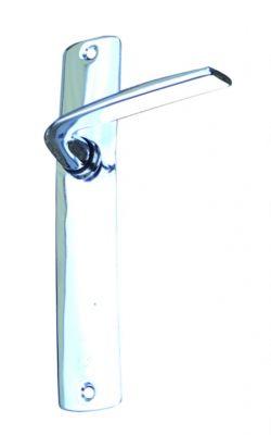 Ensemble Tulipe - Chromé miroir - Plaque 185 x 35 mm - entraxe de fixation 165 mm