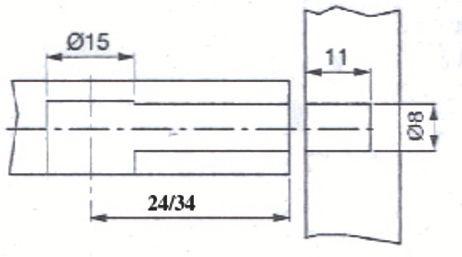 Ferrure d\'assemblage à excentrique diamètre 15 mm