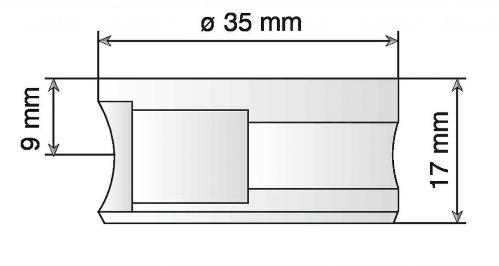Ferrure d\'assemblage à excentrique diamètre 35 mm