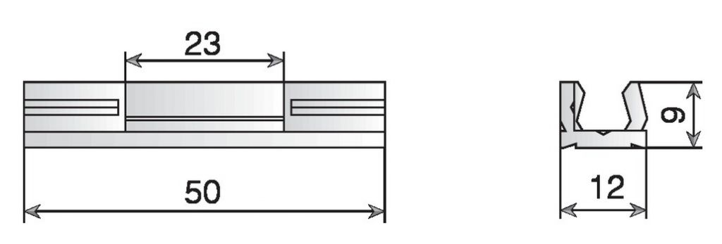 Ferrure d\'assemblage klick-System