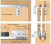 Ferrure de portes coulissantes bois slide line 56