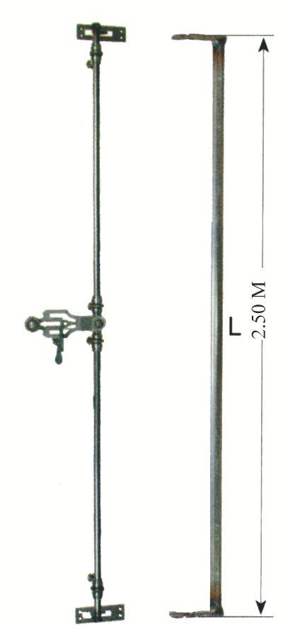 Ferrure de volets et portails Espagnolette de croisée - Acier brut