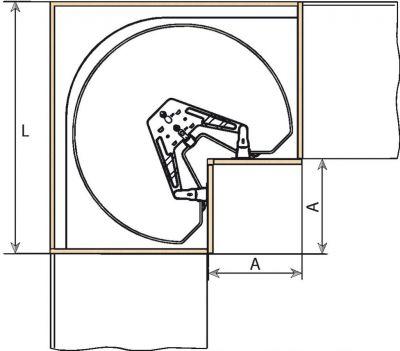 Ferrure pour meuble d 39 angle - Caisson angle cuisine ...