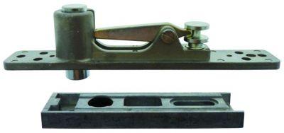 Ferrure réversible pour porte acier - aluminium et bois - double action