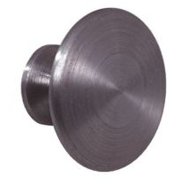 Finition fer brut acier - bouton lentille