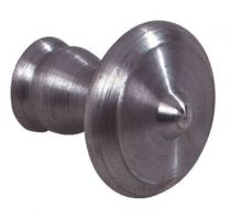 Finition fer brut acier - bouton rustique
