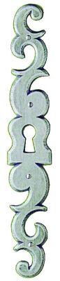 Finition fer brut acier - entrée ancienne pour porte - Hauteur 190 mm - largeur 30 mm