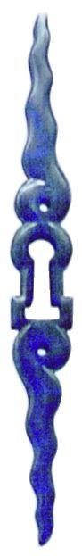 Finition fer brut acier - entrée chanfreinée pour porte