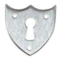 Finition fer brut acier - entrée chanfreinée pour tiroir - Forme écusson